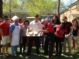 CDI Garrett focused his spring project around football, prizes and great food! The G-Day Tailgate